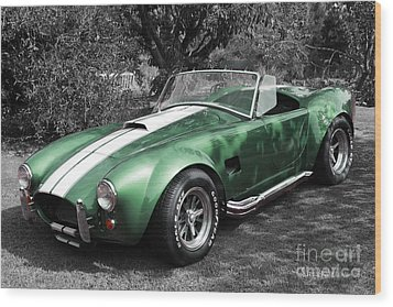 Green Cobra Wood Print