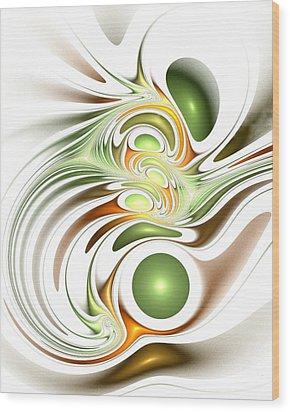 Green Creation Wood Print by Anastasiya Malakhova