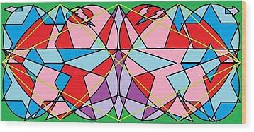 Green Diamond Wood Print by Rachael McIntosh