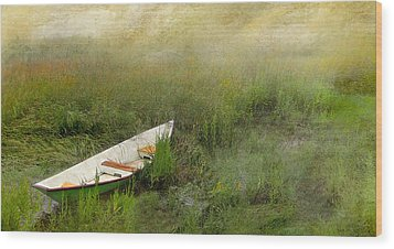 Wood Print featuring the photograph Green Dory by Karen Lynch
