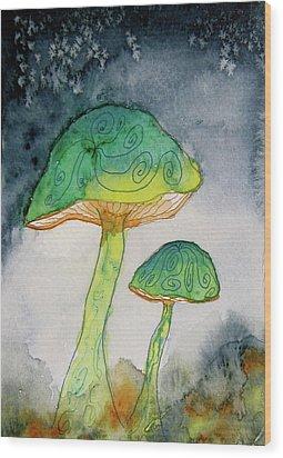 Green Dreams Wood Print by Beverley Harper Tinsley