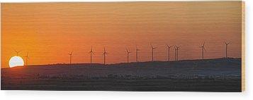 Green Energy Wood Print by Stelios Kleanthous