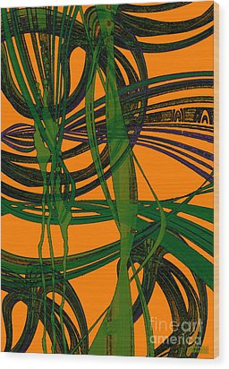Wood Print featuring the digital art Green Excitement by Hanza Turgul