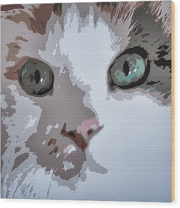 Green Eyes Wood Print by Patricia Januszkiewicz