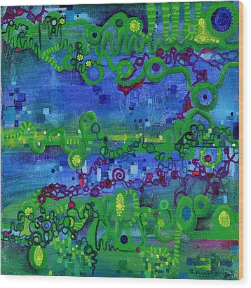 Green Functions Wood Print by Regina Valluzzi