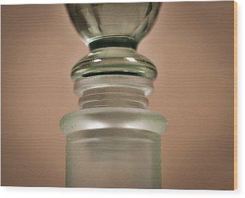 Green Glass Bottle Wood Print by Christi Kraft