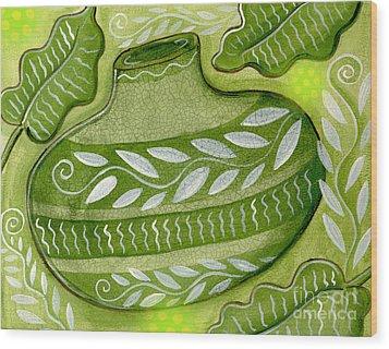 Green Gourd Wood Print