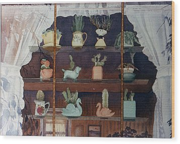 Green House Window Wood Print by Mary Helmreich