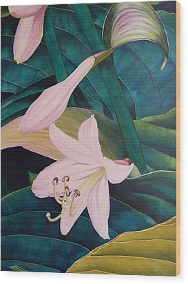 Green Hug Wood Print by Adel Nemeth