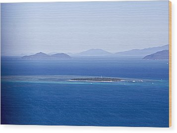 Green Island With Fitzroy Island In The Back Ground Wood Print