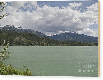 Wood Print featuring the photograph Green Lake At Whistler by Maria Janicki
