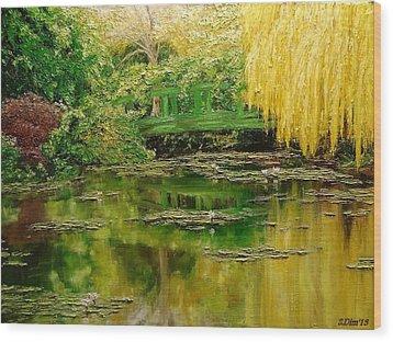 Green Lake Wood Print by Svetla Dimitrova