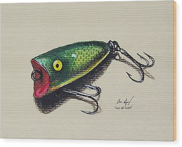 Green Lure Wood Print by Aaron Spong