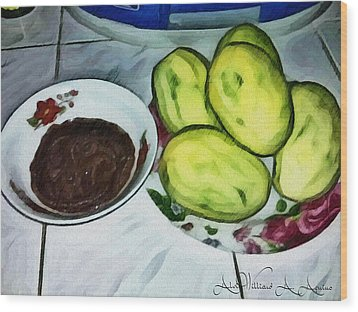 Green Mangoes Wood Print
