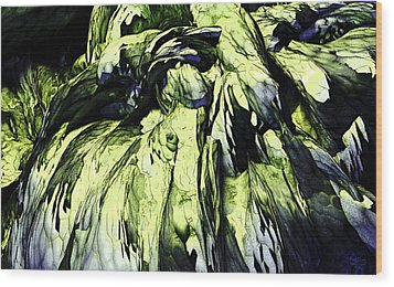 Wood Print featuring the digital art Green by Matt Lindley