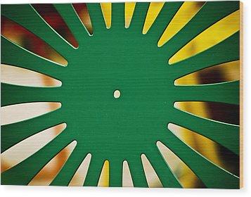 Green Memorial Union Chair Wood Print