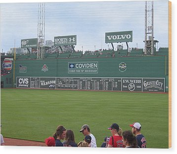 Green Monster Wood Print by Catherine Gagne
