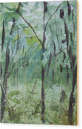 Green Morning 1 Wood Print