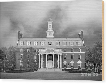 Green Mountain College Ames Hall Wood Print by University Icons