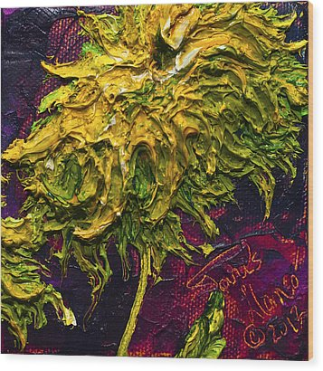 Green Mum Wood Print by Paris Wyatt Llanso