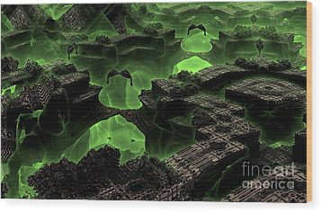 Green Odyssey Wood Print by Bernard MICHEL