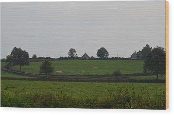 Green Pastures Wood Print