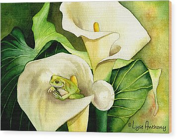 Green Peace Wood Print by Lyse Anthony