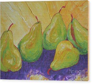 Green Pears Wood Print by Paris Wyatt Llanso
