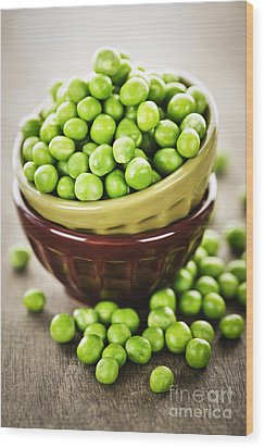 Green Peas Wood Print by Elena Elisseeva