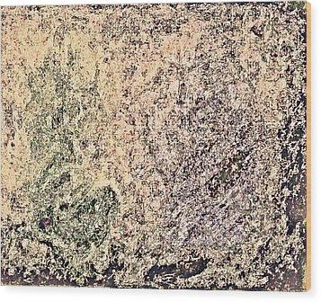 Green Purple Wood Print by Stanley Funk