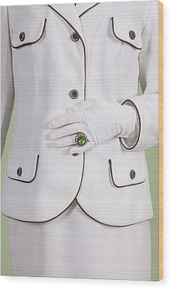 Green Ring Wood Print by Joana Kruse