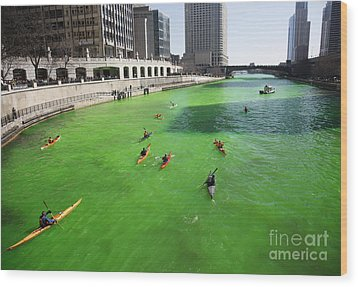 Green River Chicago Wood Print