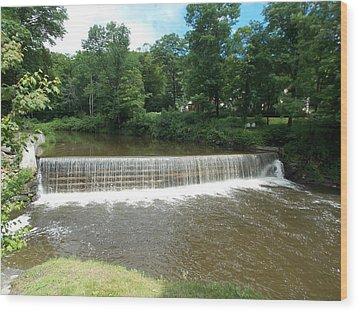 Green River Dam Wood Print by Catherine Gagne