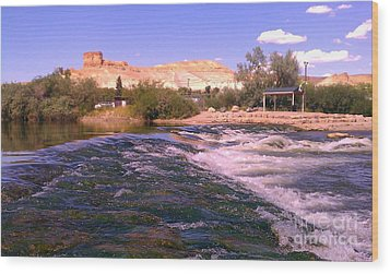 Green River Rapids Wood Print by Chris Tarpening