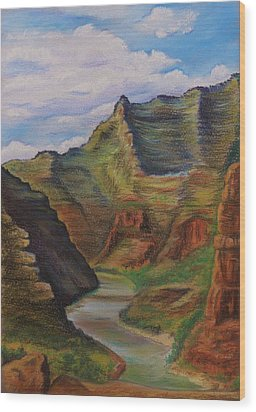 Green River Utah Wood Print by Lucy Deane