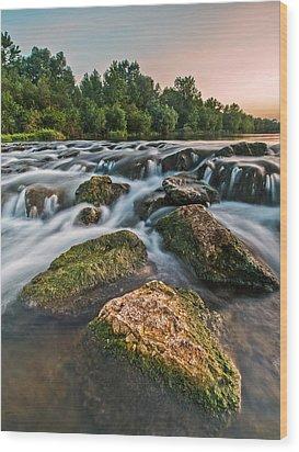Green Rocks Wood Print by Davorin Mance