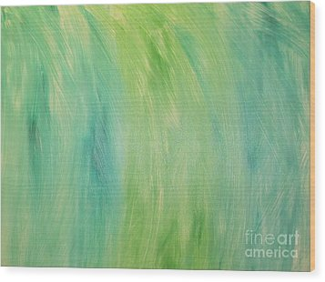 Green Shades Wood Print by Barbara Yearty