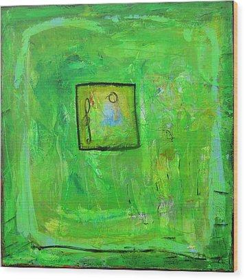 Green Tea And Music Wood Print