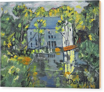 Green Township Mill House Wood Print by Michael Daniels