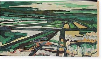 Green Valley Views Wood Print by Catherine Jones Davies