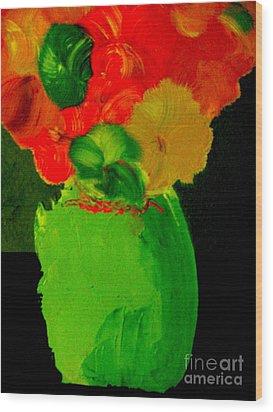 Green Vase 22 Wood Print by Bill OConnor