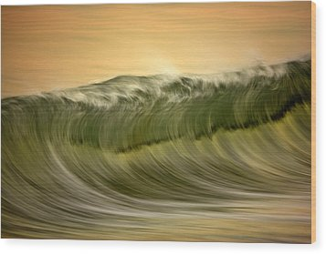 Green Wave #2  C6j7496 Wood Print by David Orias