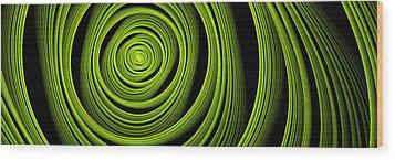 Wood Print featuring the digital art Green Wellness by Gabiw Art