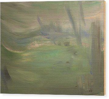 Green Wind Wood Print by Tanya Byrd