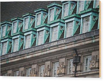 Green Windows Wood Print
