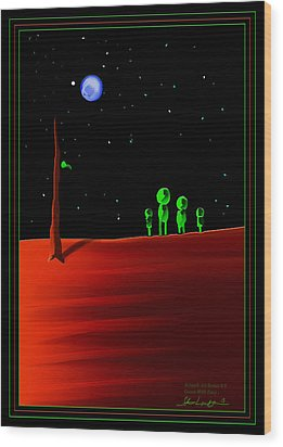 Green With Envy - Scratch Art Series - #5 Wood Print by Steven Lebron Langston