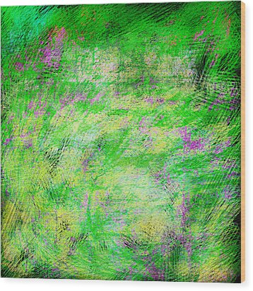 Green With Envy Series II Wood Print by Marianne Campolongo