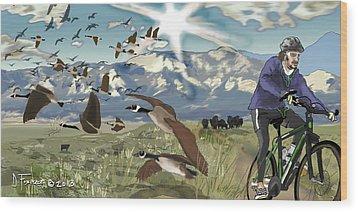 Greenbelt Plateau Boulder Co Wood Print by David Fossaceca