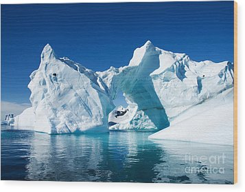 Greenland Iceberg Wood Print by Boon Mee