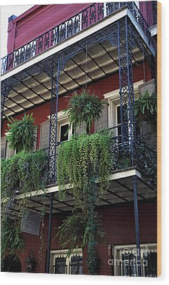Greens In New Orleans Wood Print by John Rizzuto